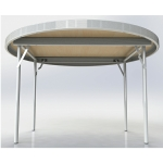 1200mm Fast Fold Round Table