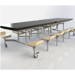 Primo Folding Table with Seats
